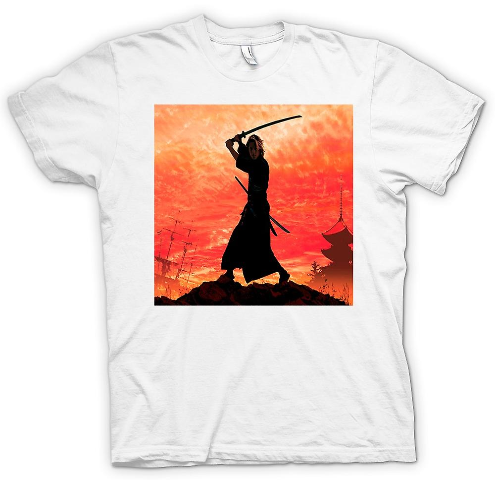 Womens T-shirt-Samurai Fighter
