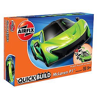 Airfix rapido costruire modello Mclaren P1 - verde