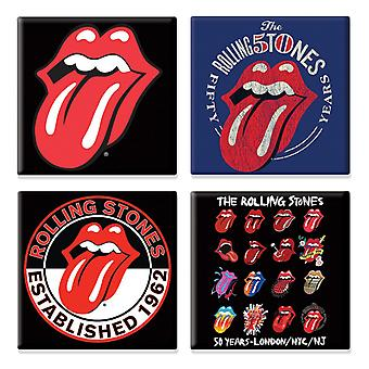 The Rolling Stones 4 x tongue logo various designs new Gift set