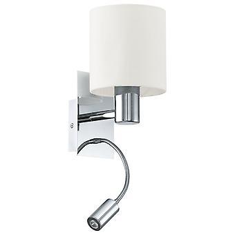 EGLO Halva Chrome et lampe de lecture pour le mur Beige chambre d'hôtel