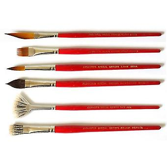 Artmaster Special Effects Watercolour Brushes Set of 6