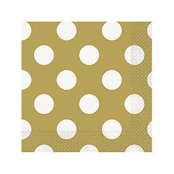 Gold Dot Lunch Napkins