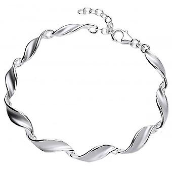 Cavendish French Sterling Silver Swirled Leaf Bracelet - Silver