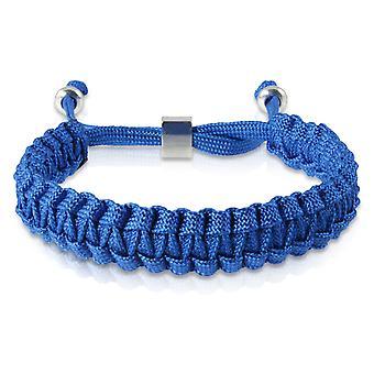 Skipper braided bracelet bracelet bracelet braided nylon Blau Silber 7172