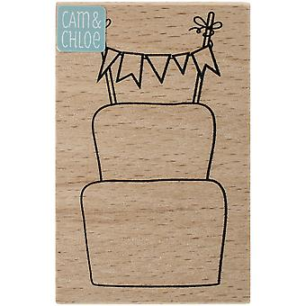 Cam & Chloe Mounted Stamp 3.25