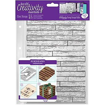 Creativity Essentials A5 Clear Stamps-Wooden Board Background