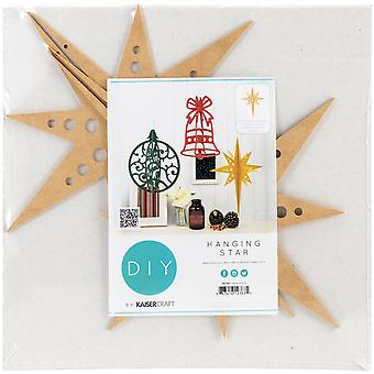 Beyond The Page MDF Hanging Star Ornament-14.25