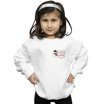 Disney Girls Mickey Mouse Faux Pocket Since 1928 Sweatshirt
