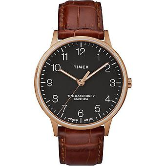 Timex mens watch Waterbury classic 40 mm leather bracelet TW2R71400