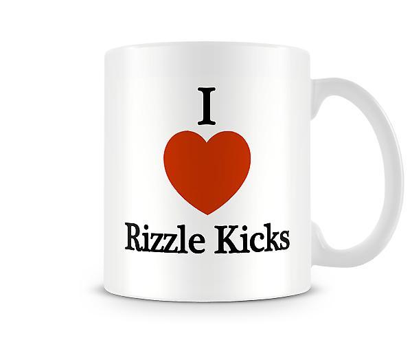 Me encanta Rizzle Kicks taza impresa