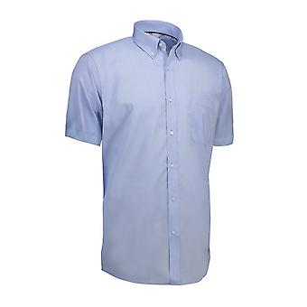ID Mens Oxford Shirt Short Sleeve Modern Fit