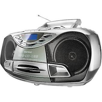 Karcher RR 510(N) FM Radio/CD CD, Tape, FM, USB-Silber