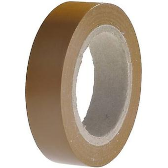 Electrical tape HelaTape Flex 15 Brown (L x W) 10 m x 15 mm Hell