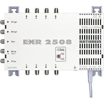 Kathrein EXR 2508 SAT multiswitch Inputs (multiswitches): 5 (4 SAT/1 terrestrial) No. of participants: 8