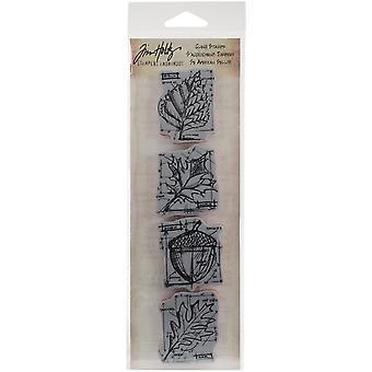Tim Holtz Mini Blueprints Strip Cling Stamps 3