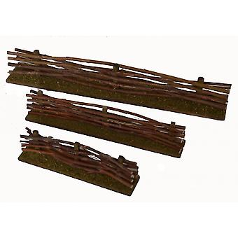 Wood fence fence braided set of 3 for Christmas Nativity stable Nativity accessories