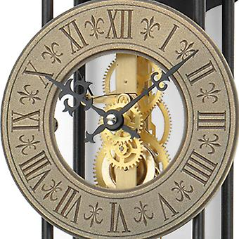 Nostalgic wall clock pendulum wall clock with pendulum housing metal finish