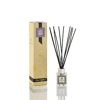 Natural Reed Diffuser - Long-lasting & Healthy - Beautiful Perfumes that Compliment You - Fragrance for 2-3 months (50 ml) - Linen & Lavender by PAIRFUM - Black Reeds - Glass Cube