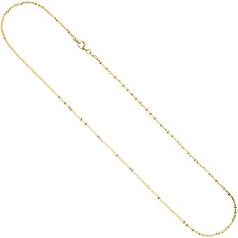 Criss-cross chain 333 1.3 mm 45 cm gold yellow gold necklace gold necklace carabiner