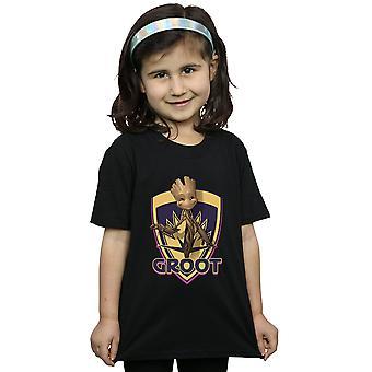 Marvel niñas guardianes de la galaxia Groot Badge camiseta