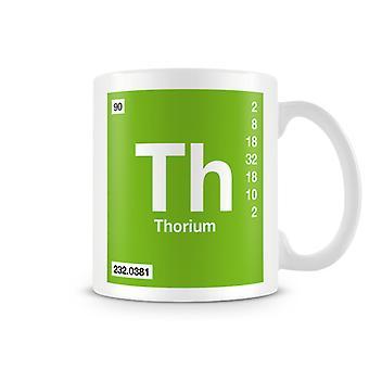Wetenschappelijke bedrukte Mok met Element symbool 090 Th - Thorium