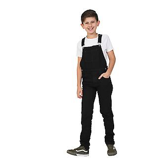 Boys Dungarees Age 4-14 Years - Black Slim Fit Overalls