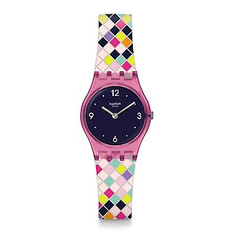 Lp153 Squarolor Multi color dama silicona reloj Swatch