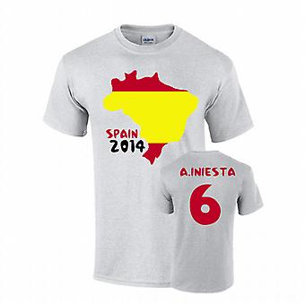 Spain 2014 Country Flag T-shirt (fabregas 10)