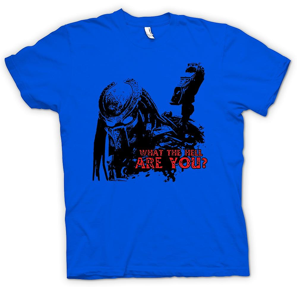 Mens T-shirt - Predator What The Hell - Alien