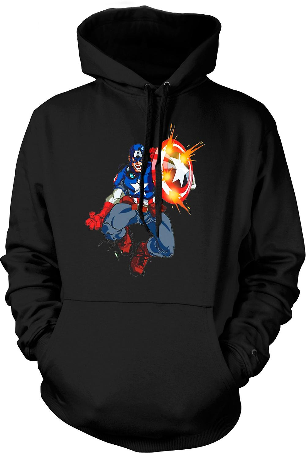 Kids Hoodie - Captain America - Comic Hero
