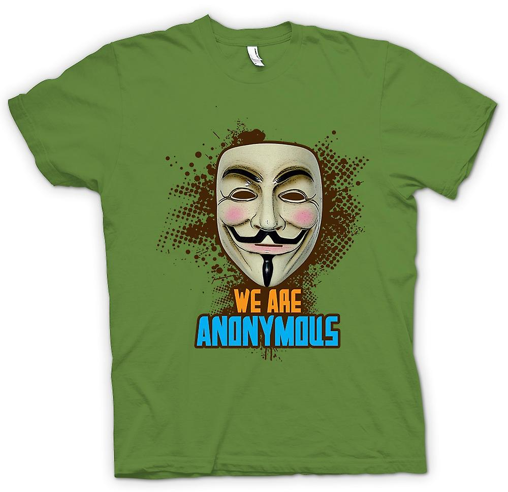Herren T-Shirt - V wie Vendetta Anonymous