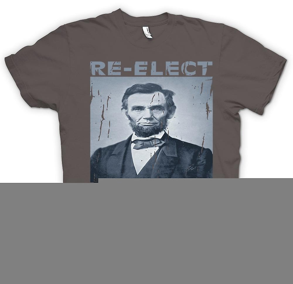 Heren T-shirt - Relect President Lincoln - portret