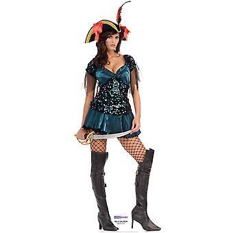 Åbent hav pirat Babe - Lifesize pap påklædningsdukke / Standee