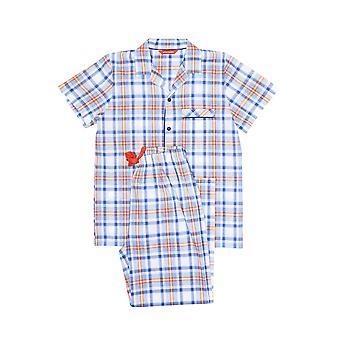 Minijammies 6364 Boy's Oscar Blue Plaid Pyjama Set
