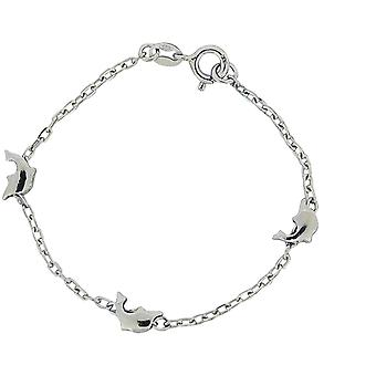 TOC-Mädchen Sterling Silber Delfin Armband 7