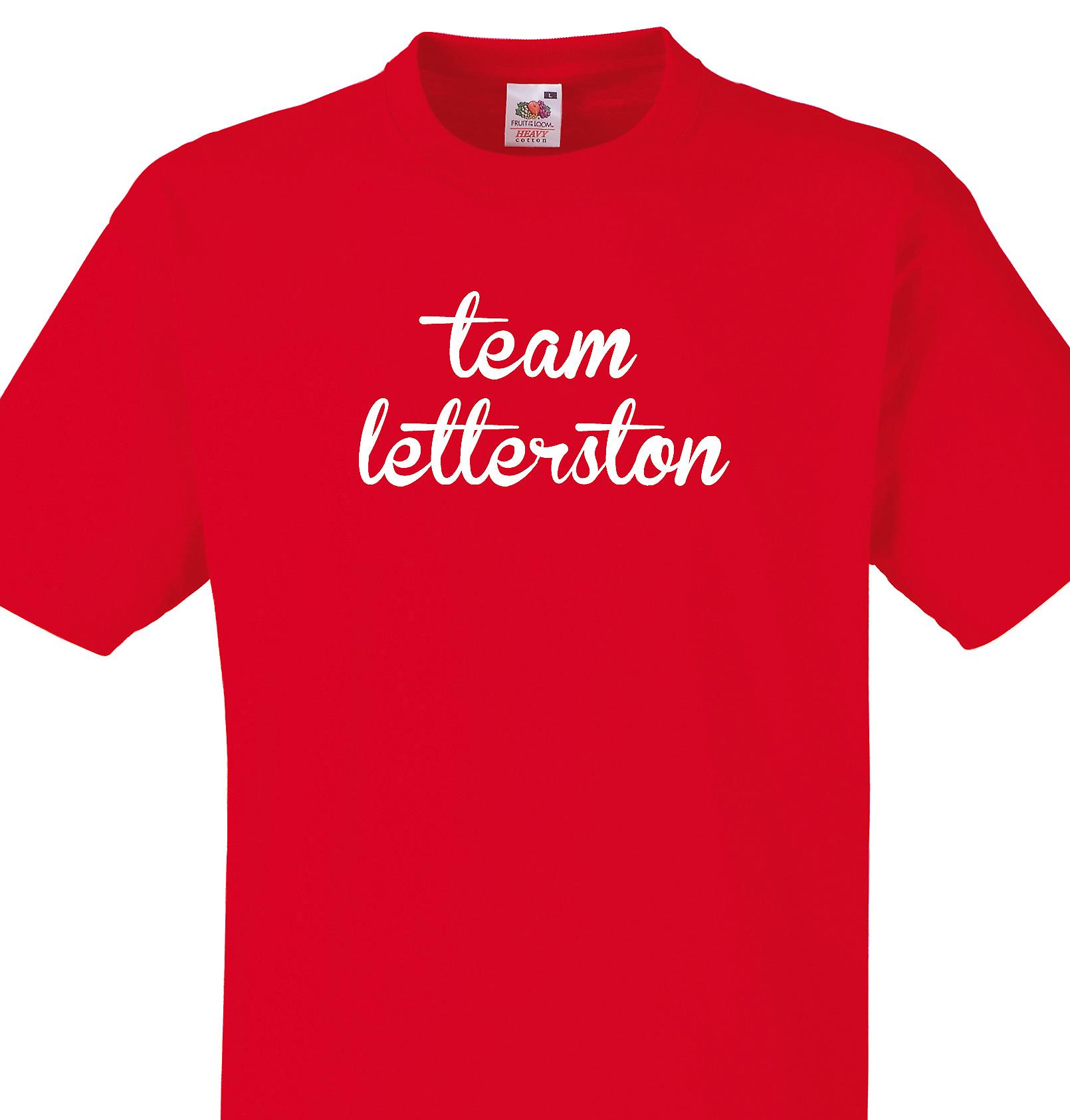 Team Letterston Red T shirt