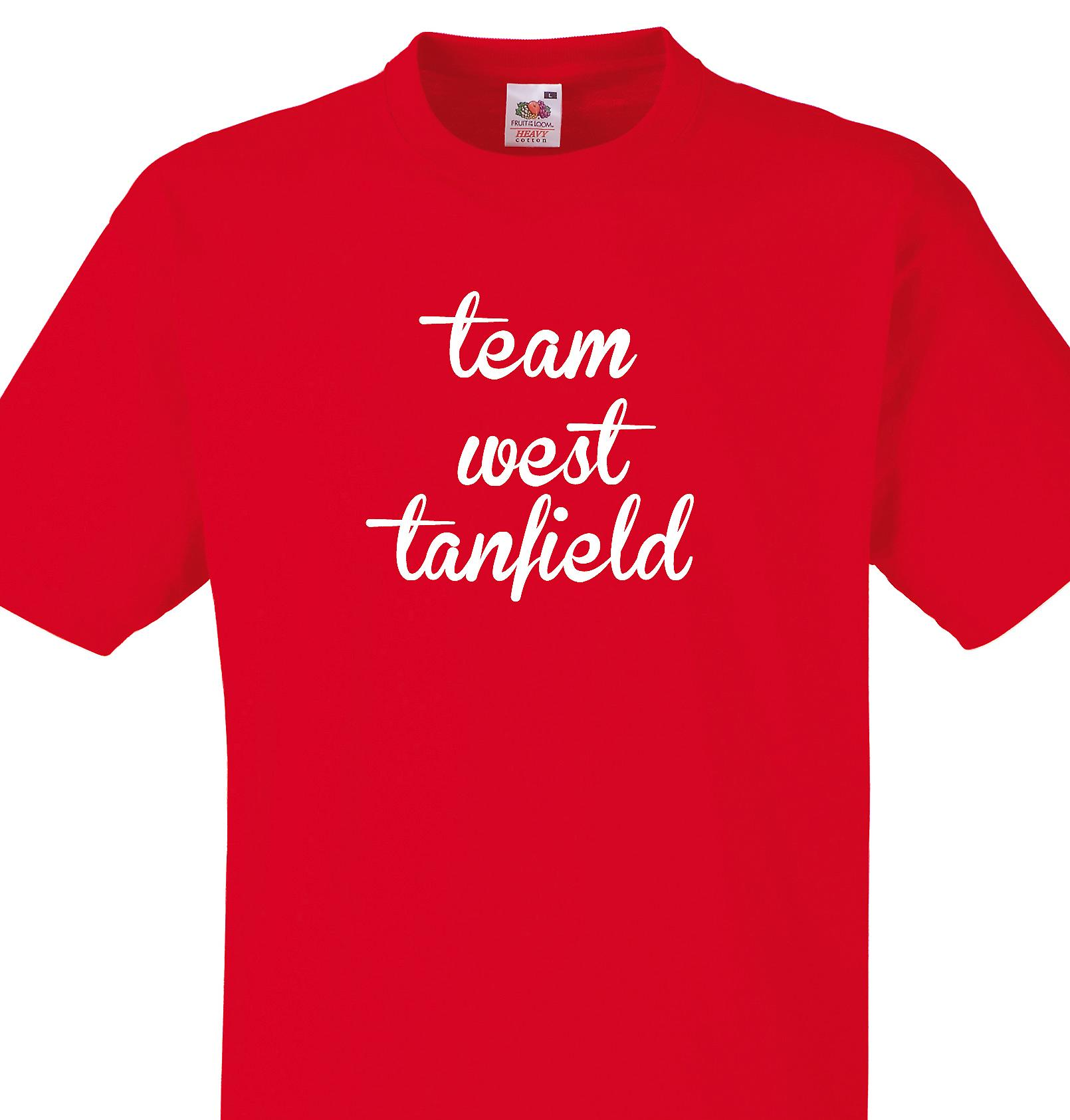 Team West tanfield Red T shirt