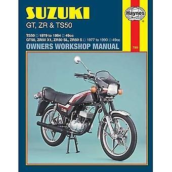 Suzuki GT, ZR och TS50 1979-89 – Workshop Användarhandbok (motorcykel manualer)