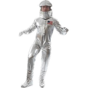 Orion Costumes Mens Silver Astronaut Space Suit With Helmet Fancy Dress Costume