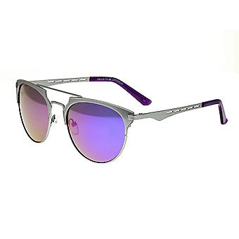 Breed Hercules Titanium Polarized Sunglasses - Silver/Purple