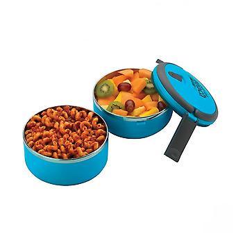 Blå Dobbeltdekker rundt matboks