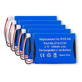 Lot of 5 Batteries for Apple iPod 4th Generation | A1099 616-0183