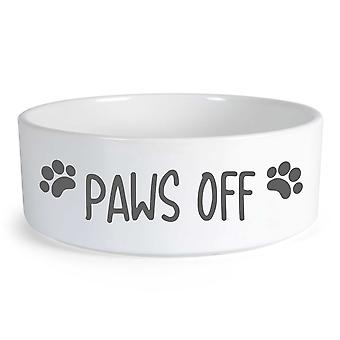 Paws Off Large Ceramic Dog Bowl