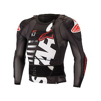 Alpinestars Black-White-Red Sequence MX Protection Jacket