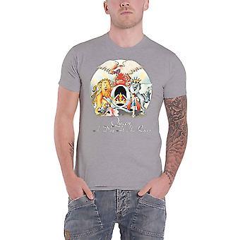 Regina T Shirt A giornata presso The gare Band Logo nuovo ufficiale Mens Heather Grey