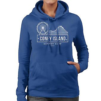 Coney Island sommarläger kvinnor 's Hooded Sweatshirt