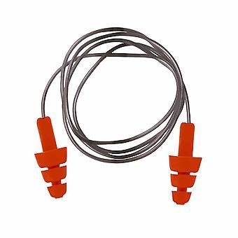 Portwest - 再利用可能な TPE 有線耳プラグ オレンジ レギュラー