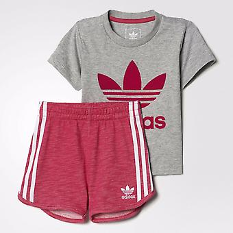 Adidas Originals Infant Girls Trefoil Set Tee & Shorts