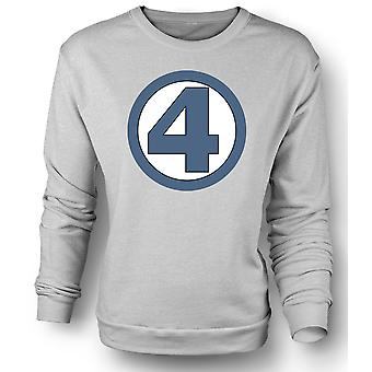 Womens Sweatshirt Fantastic 4 Logo - Superhero