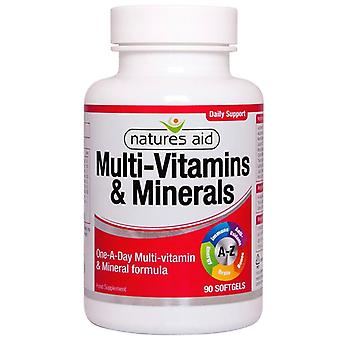 Nature's Aid Multi-Vitamins & Minerals (with Iron) Softgels 90